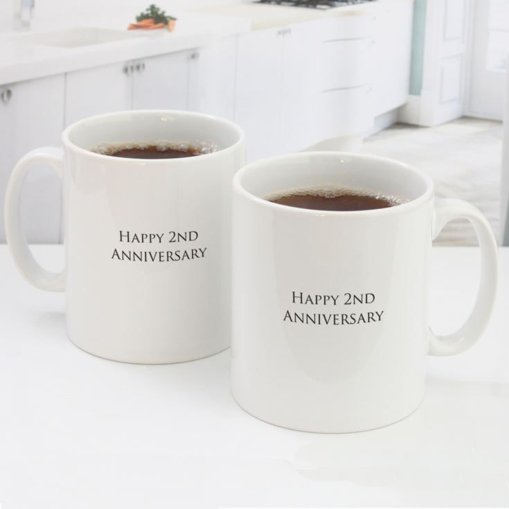 Pair of Personalised Second Anniversary Mugs product image