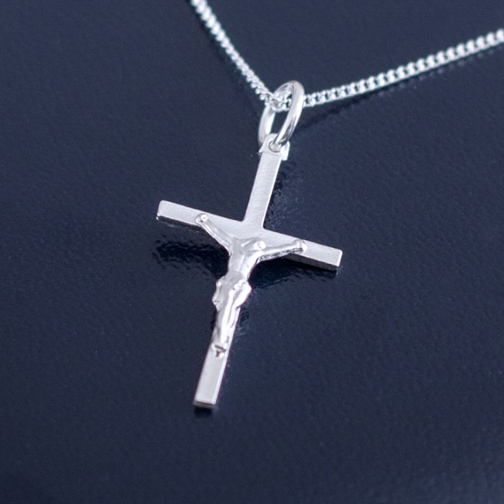 Sterling Silver Crucifix In Personalised Gift Box product image