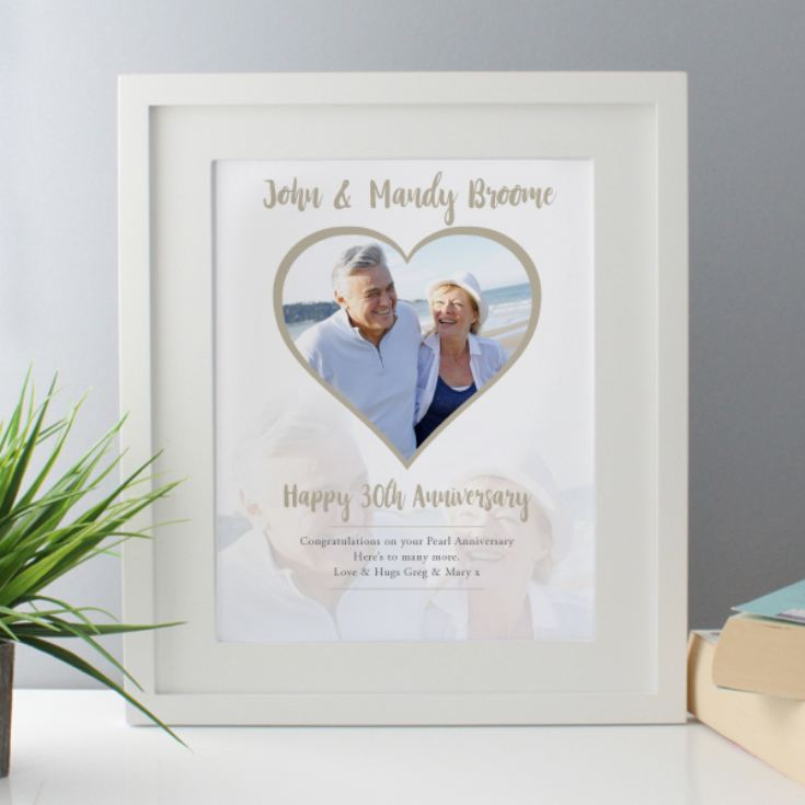 Personalised Pearl Anniversary Framed Photo Print product image