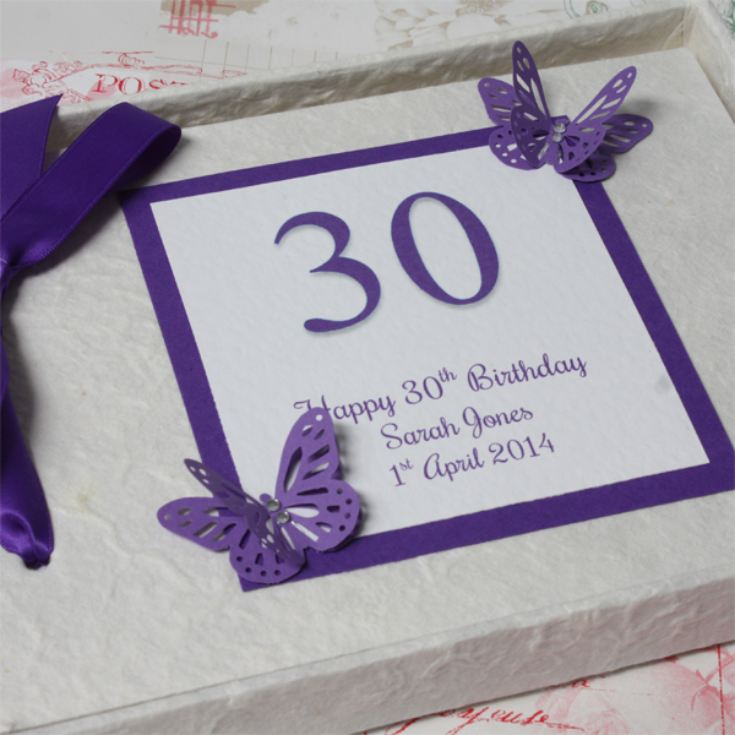 Personalised 30th Birthday Photo Album product image