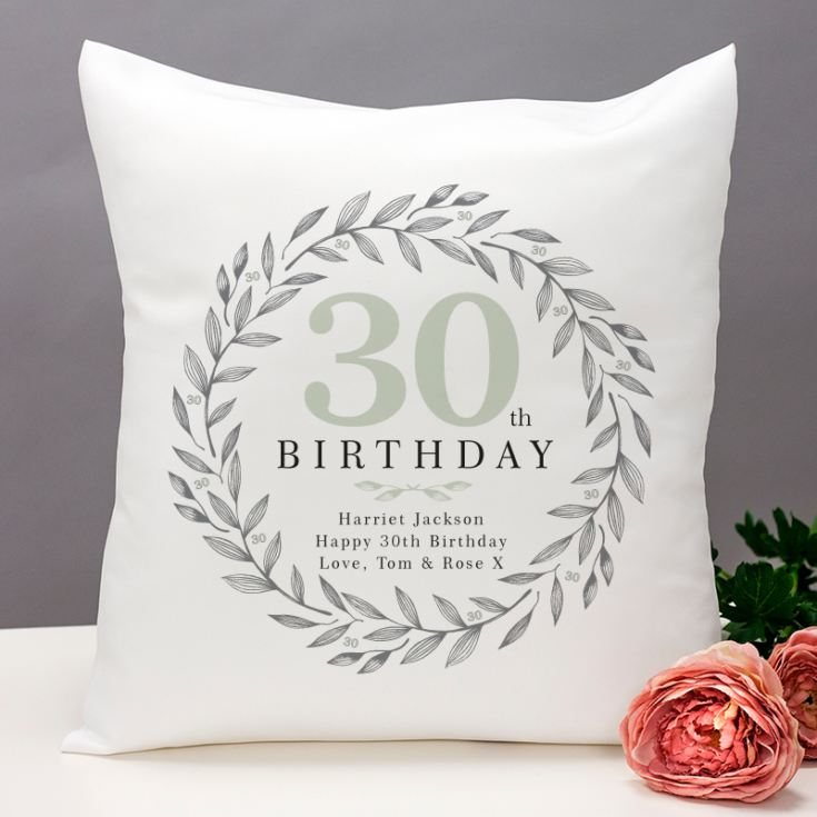 Personalised 30th Birthday Cushion product image