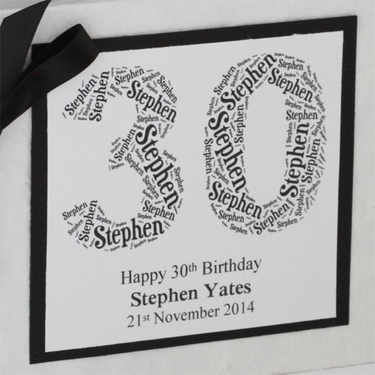 Personalised Birthday Photo Album - Number Design product image