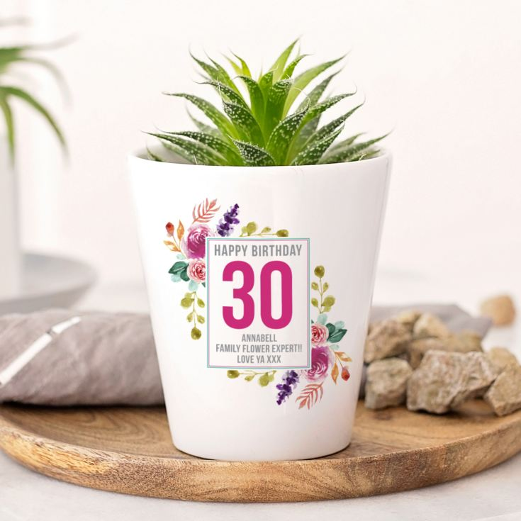 Personalised 30th Birthday Plant Pot product image