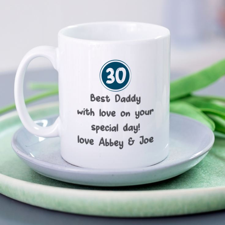Personalised 30th Birthday Mug Blue product image