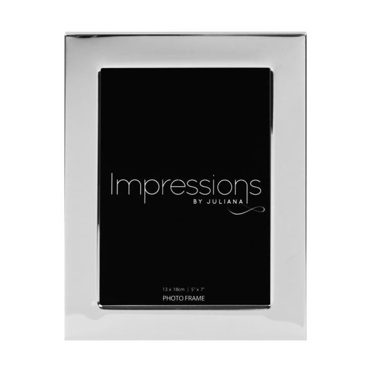 "5"" x 7"" - Impressions Silver Plated Photo Frame product image"