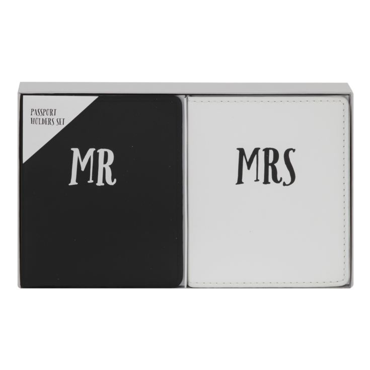 Faux Leather Just Married Passport Holders - Mr & Mrs product image
