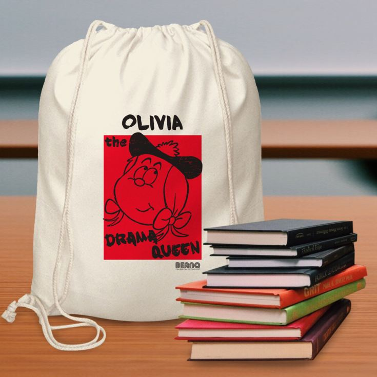 Personalised Beano Big Heads Minnie Drawstring Bag product image