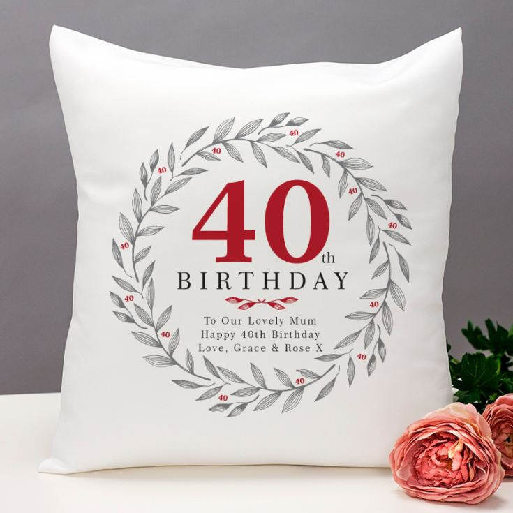 Personalised 40th Birthday Cushion product image