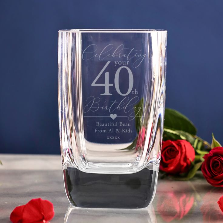 Personalised 40th Birthday Vase product image