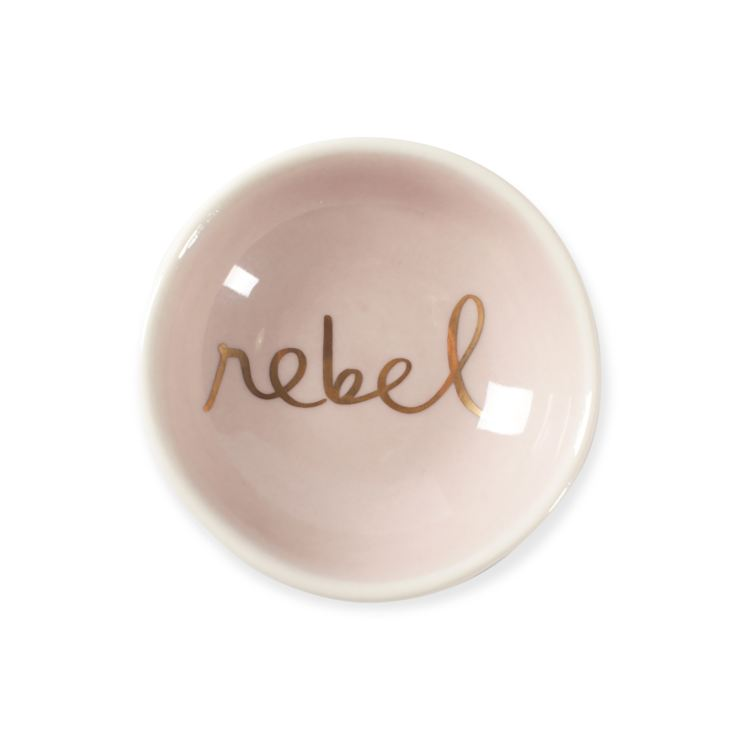 FRINGE STUDIO REBEL ROUND TRAY WITH GOLD FOIL product image