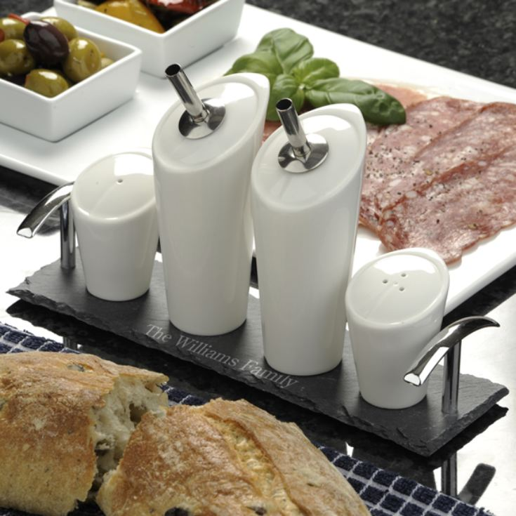 My Deli Personalised Slate Board and Condiment Set product image