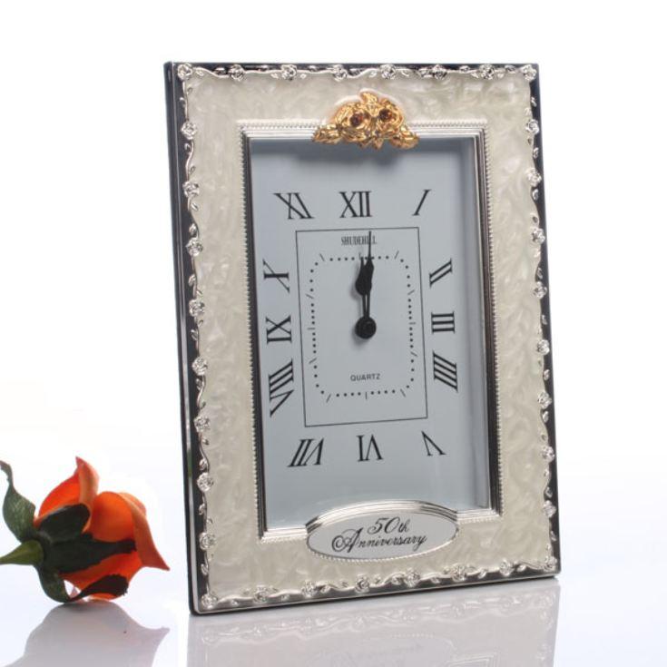 Golden Wedding Gift Ideas Uk: 50th Golden Wedding Anniversary Quartz Clock