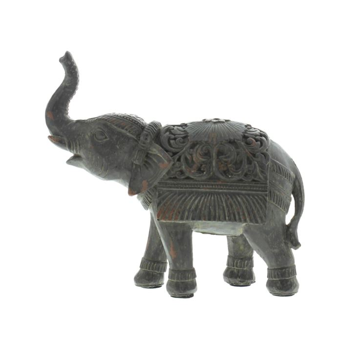 Hand Painted Indian Elephant - Rearing Trunk product image