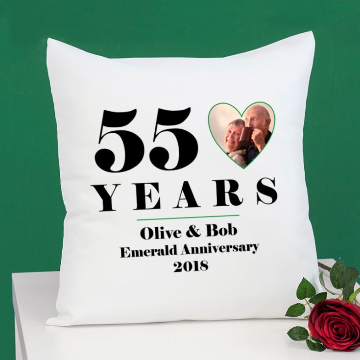 Personalised 55th Wedding Anniversary Photo Cushion product image