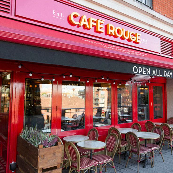 Three Course Meal with Sparkling Wine for Two at Cafe Rouge product image