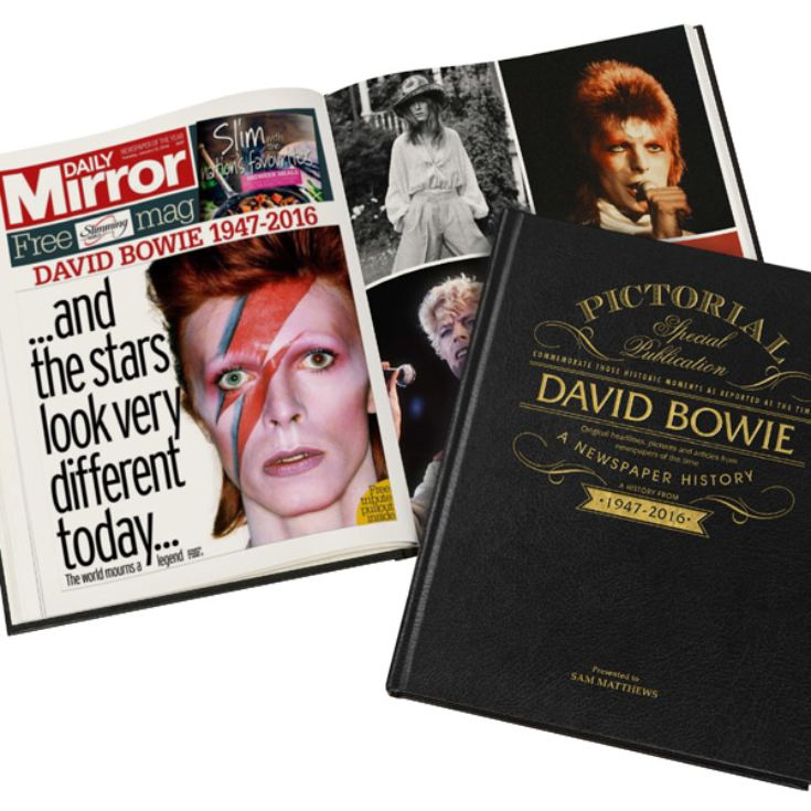 David Bowie Pictorial Edition Newspaper Book product image