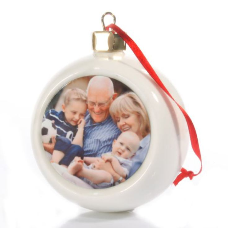 Personalised Photo Christmas Bauble product image