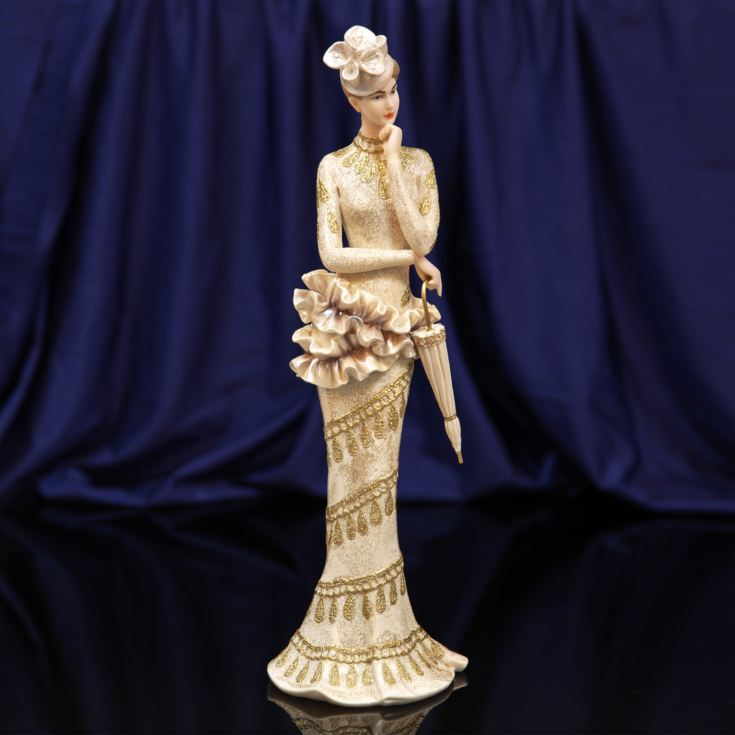 Bolero Collection Lady Figurine in Gold Trimmed Dress 34cm product image