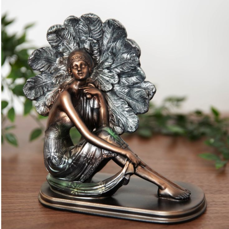 Silhouette Collection Lady Figurine Bronze & Green 21cm product image
