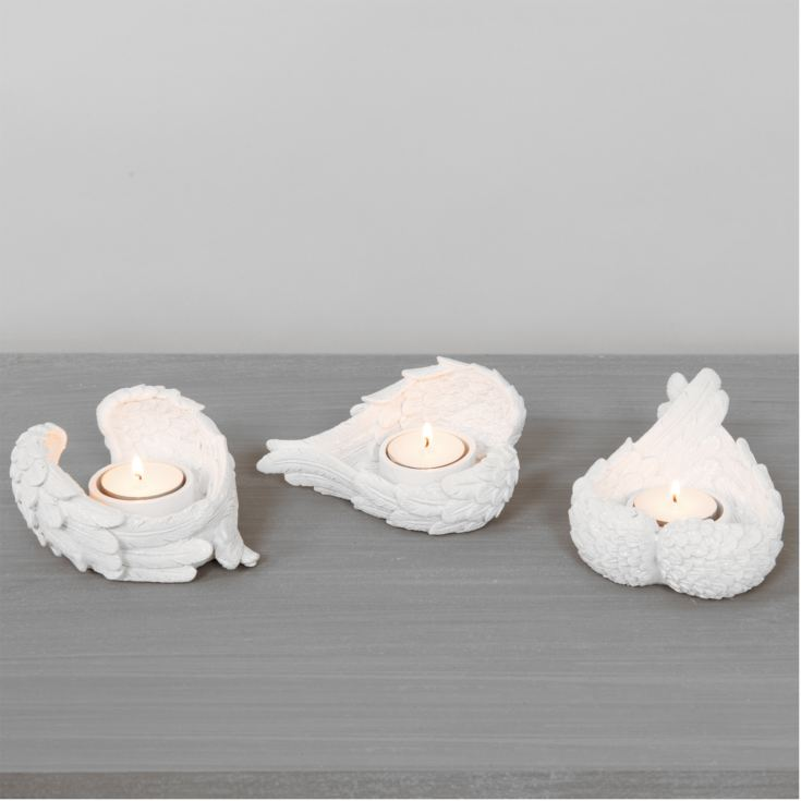 Thoughts Of You Cherub Wing Set of 3 Tealight Holder product image