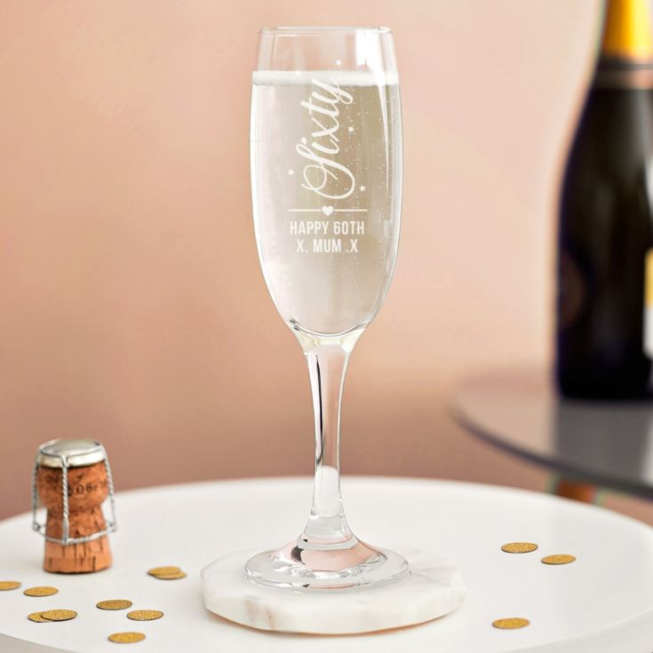 Personalised 60th Birthday Prosecco Glass product image