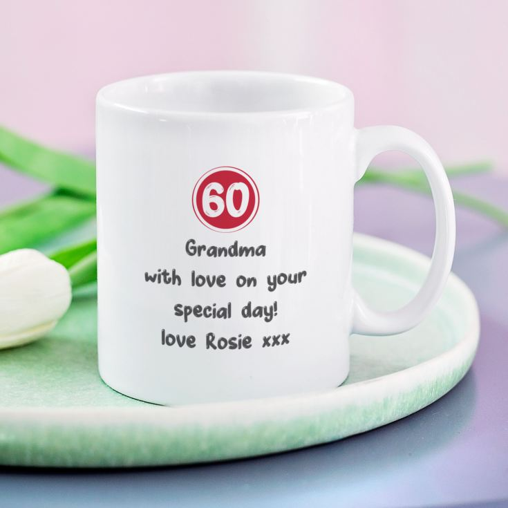 Personalised 60th Birthday Mug Red product image