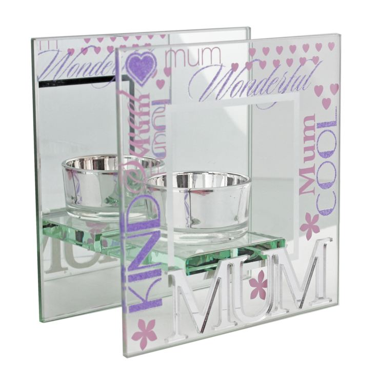 Celebrations Mirrored Glass Mum Tealight Holder product image
