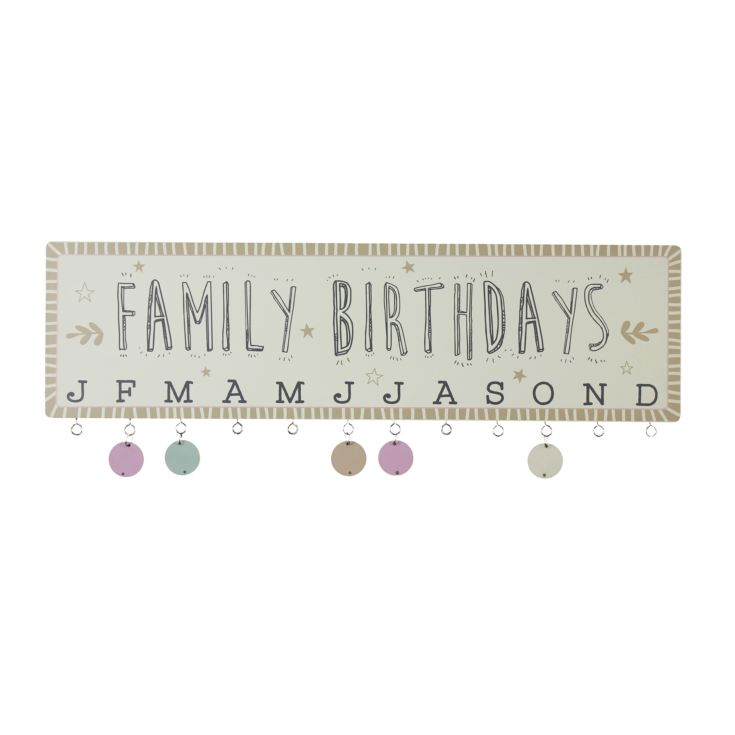 Love Life Family Birthdays Hanging Plaque with Discs product image