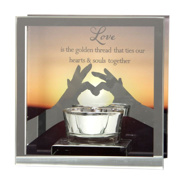 Reflections Of The Heart Mirror Tealight Holder - Love product image