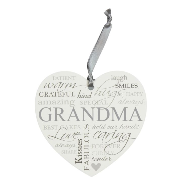 Heartfelt Moments Grandma Heart Plaque & Ribbon product image