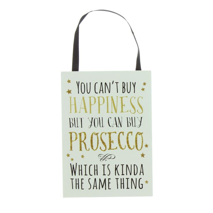 Signography Sparkling Prosecco MDF Plaque - You Can't Buy product image
