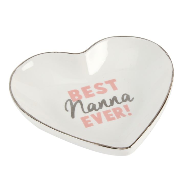 Lasting Memories Best Nanna Ever Heart Shaped Plate product image