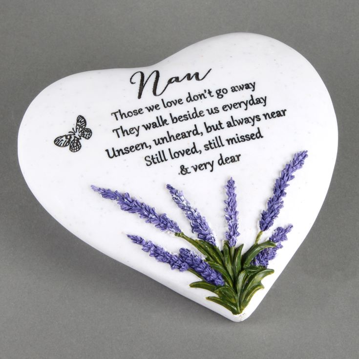 Thoughts Of You 'Nan' Memorial Heart Stone product image