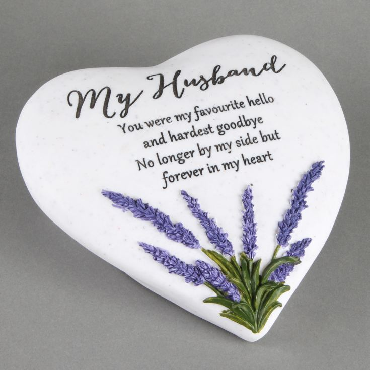 Thoughts Of You 'Husband' Memorial Heart Stone product image