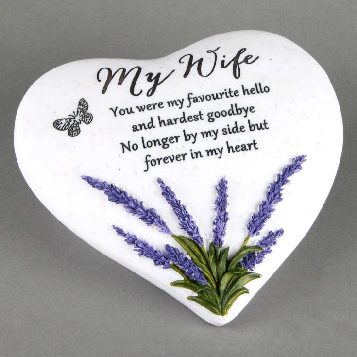 Thoughts Of You 'Wife' Memorial Heart Stone product image