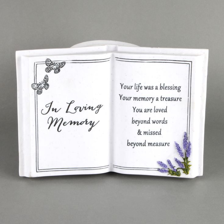 Thoughts Of You 'In Loving Memory' Graveside Book Vase product image