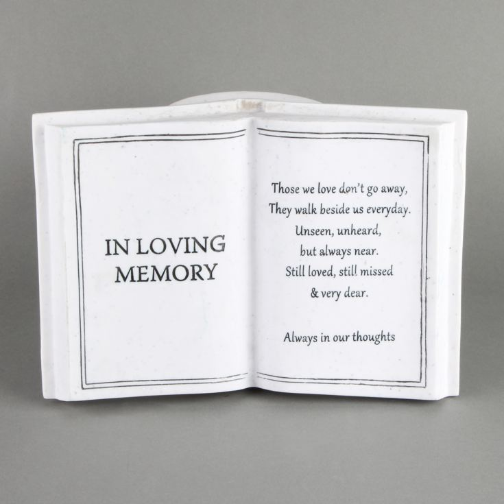 Thoughts Of You Graveside Book Vase - In Loving Memory product image