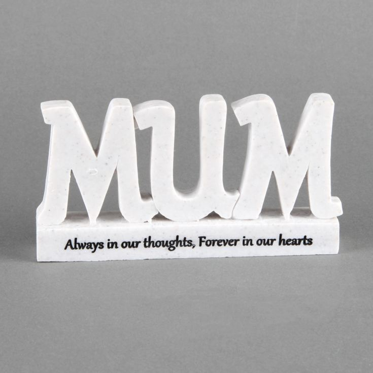 Thoughts Of You 'Mum' Memorial 3D Plaque product image