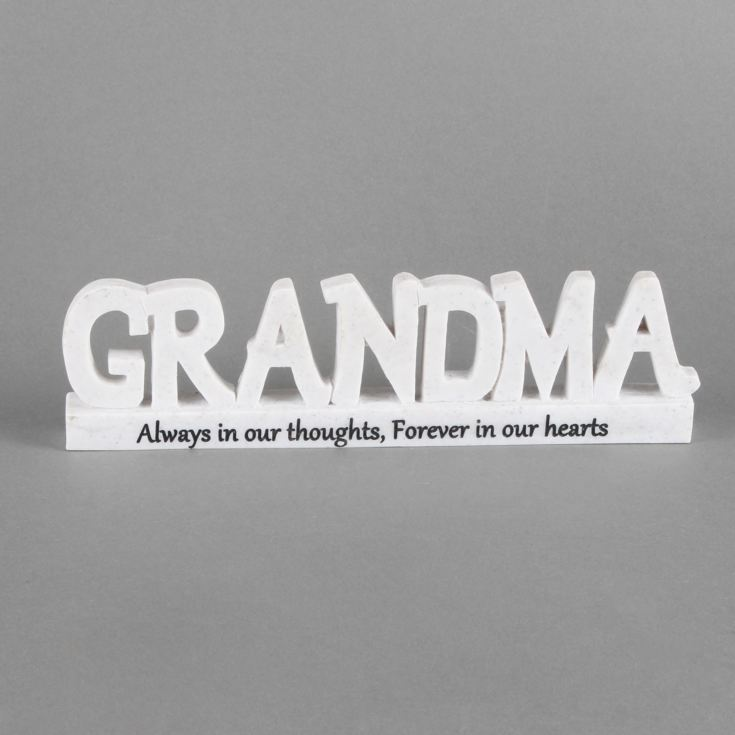 Thoughts Of You 'Grandma' Memorial 3D Plaque product image