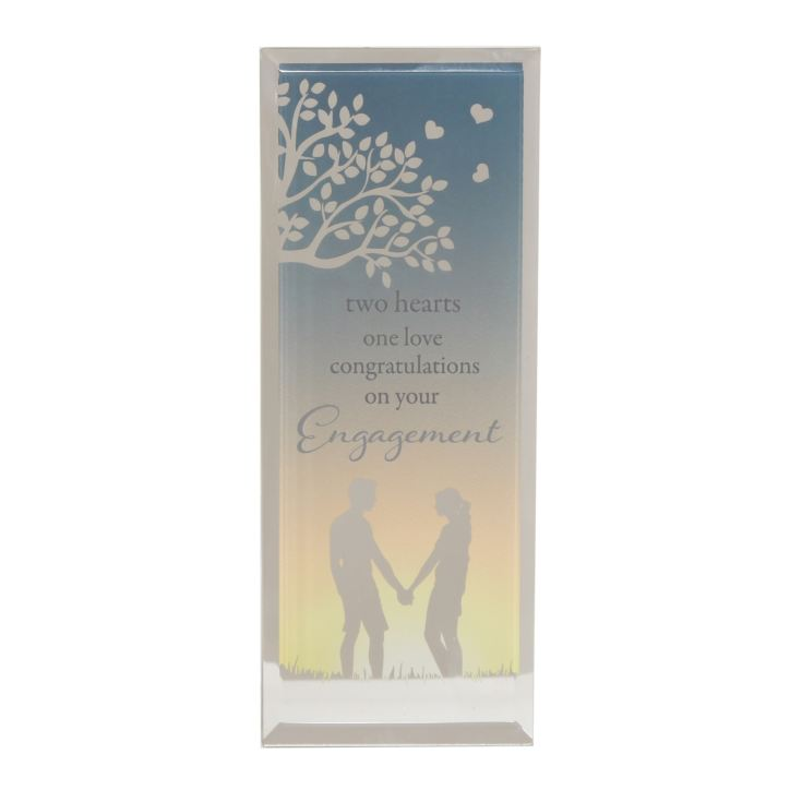 Reflections Of The Heart Engagement Standing Plaque product image