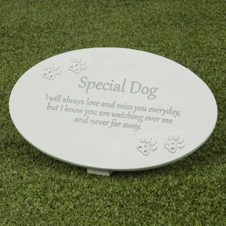 Thoughts of You Resin Memorial Plaque - Dog product image