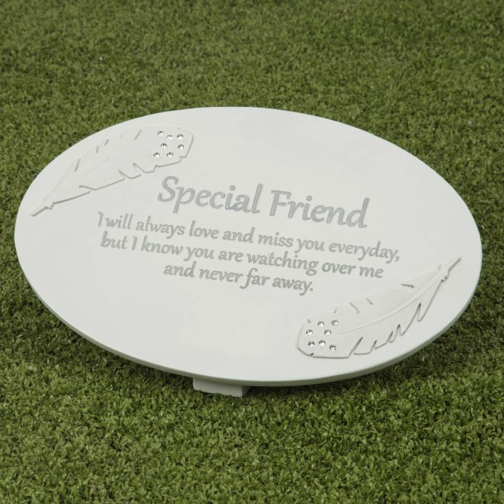 Thoughts of You Resin Memorial Plaque - Special Friend product image