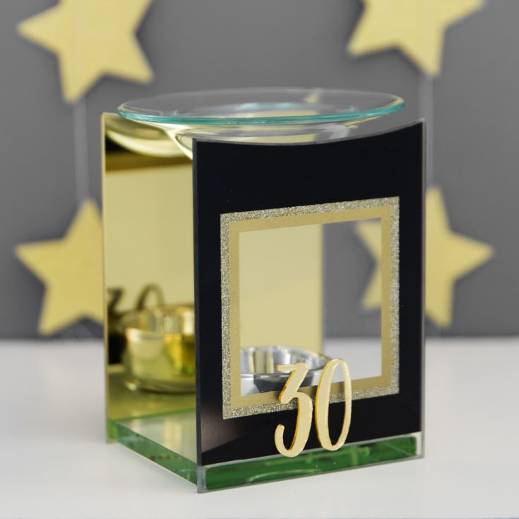 Signography Gold Glitter Glass Oil Burner - 30 product image