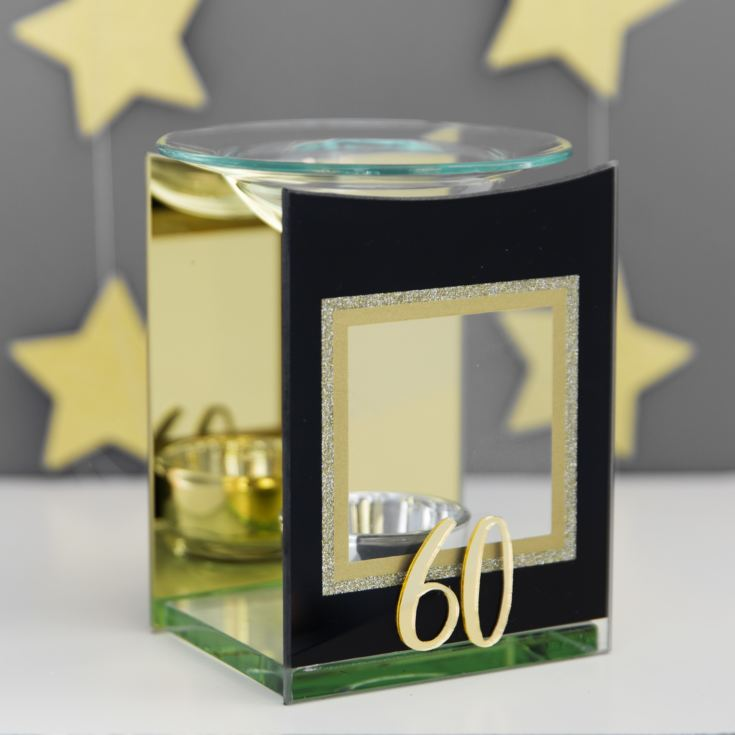 Signography Gold Glitter Glass Oil Burner - 60 product image