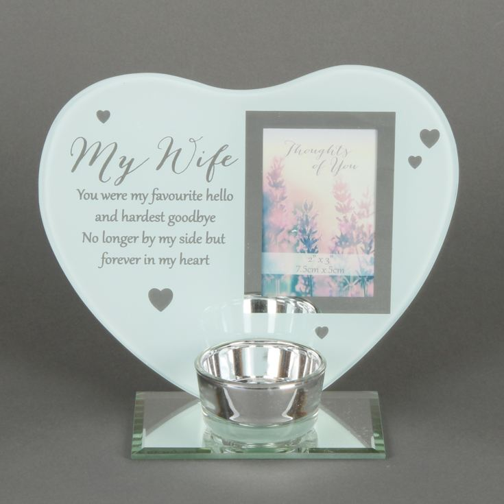 Thoughts of You 'Wife' Heart Tealight Holder product image
