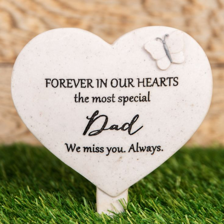 Thoughts Of You Heart 'Dad' Graveside Stake product image