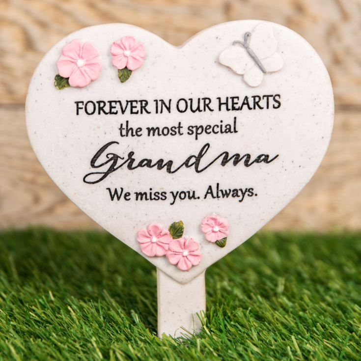 Thoughts Of You Heart 'Grandma' Graveside Stake product image