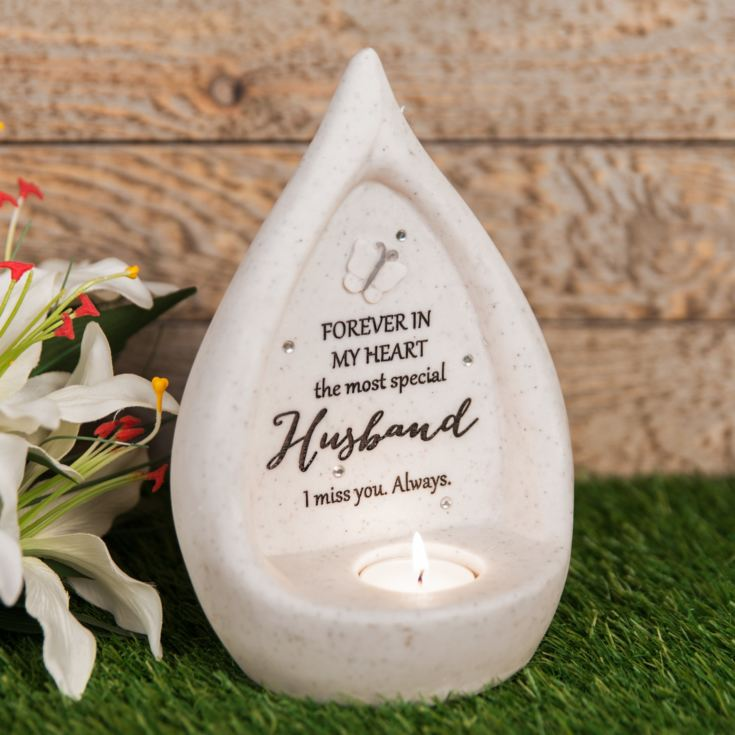 Thoughts of You 'Husband' Teardrop Graveside Tealight Holder product image