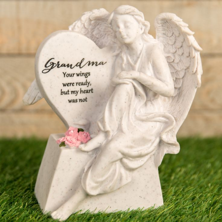 Thoughts Of You Graveside Angel & Heart - Grandma product image