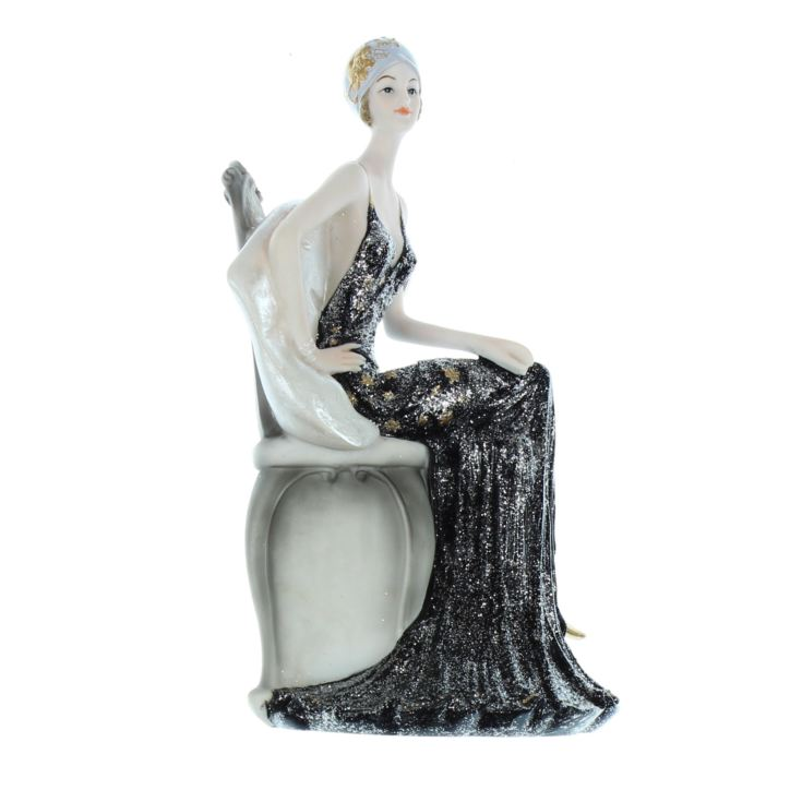 Broadway Belles Black Dress Sitting 24cm Josephine product image